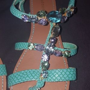SANDALS jeweled madden
